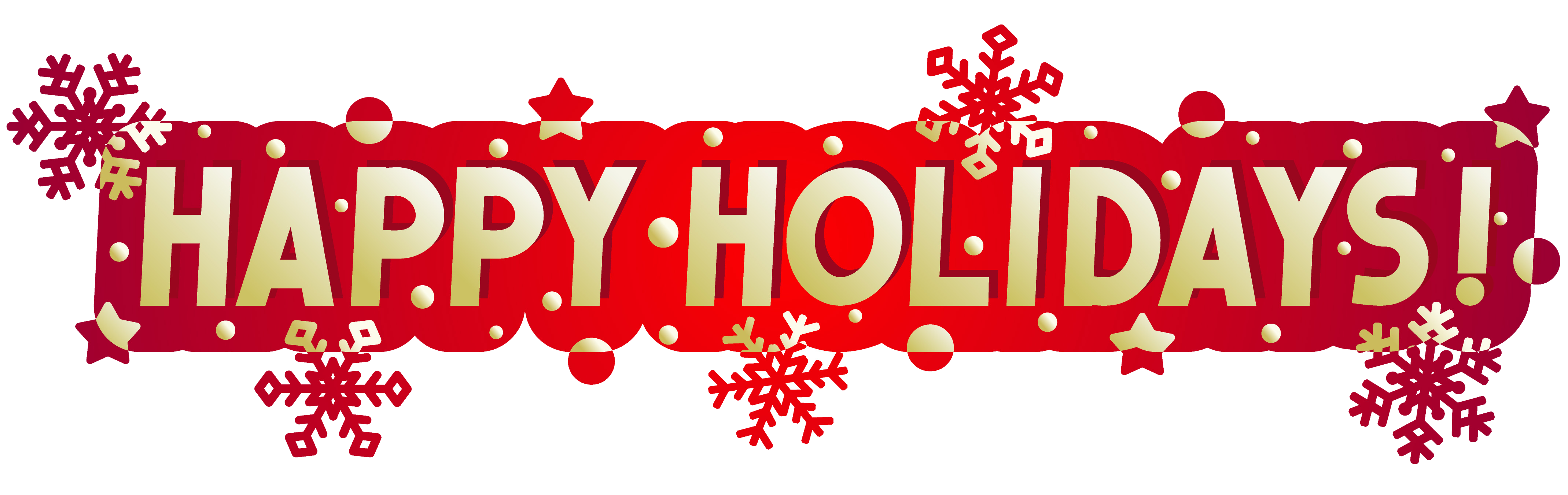 High Resolution Happy Holidays Png Clipart image #34697