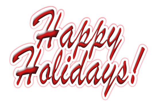 Happy Holidays Transparent Png image #34709