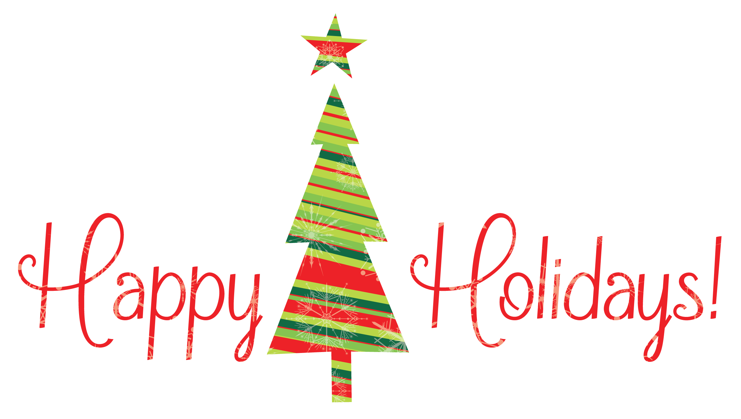 Happy Holidays With Tree Png image #34700