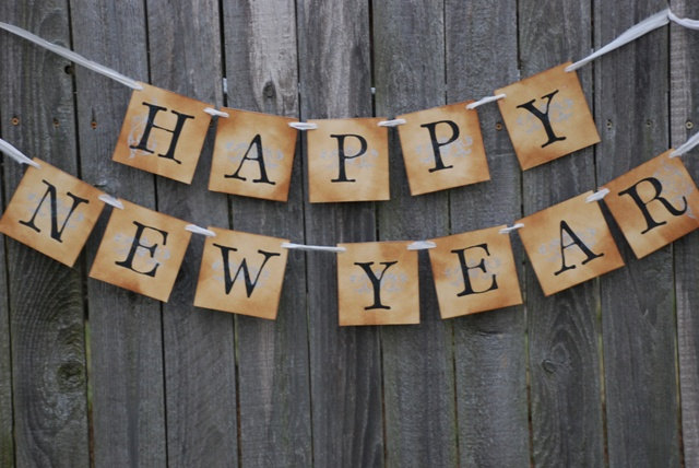 Happy New Year Banner PNG Clipart image #34646