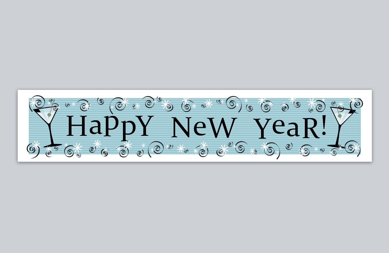 background happy new year banner transparent