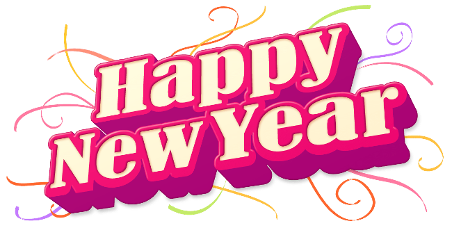 Happy New Year Pink Design