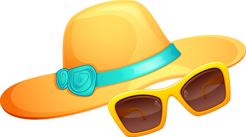 Hat And Sunglasses Summer Png image #41191