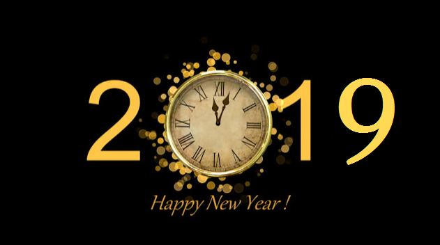 Hd 2019 Happy New Year With Clock, Countdown New Year image #47292