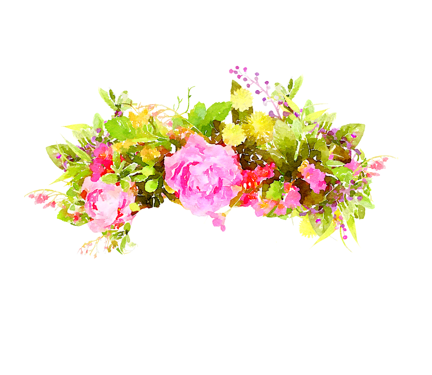 HD Flowers Image Watercolor PNG