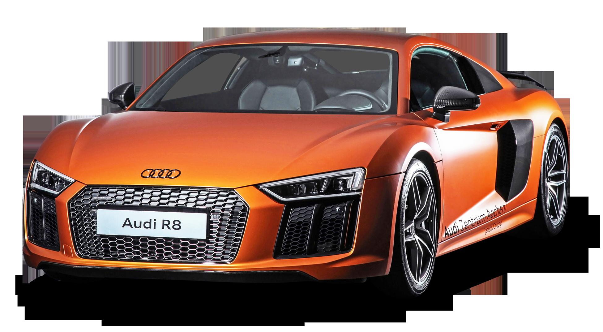 HD Orange Audi R8 Car PNG