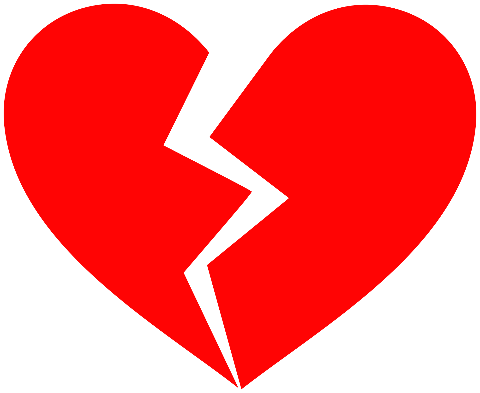 Hd Red Broken Heart Png Transparent Background