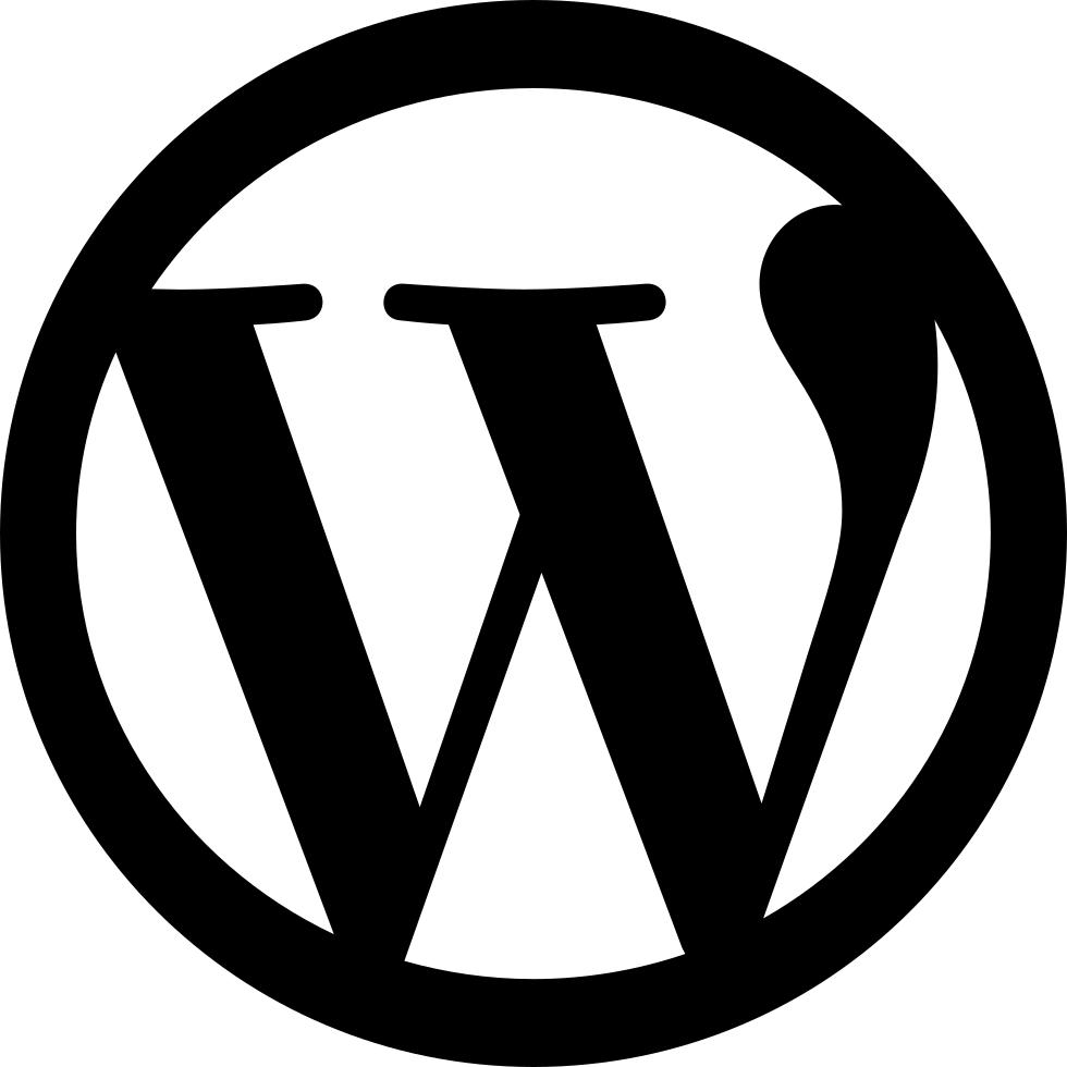 Hd Wordpress black Logo Png