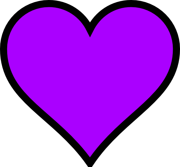 Heart Outline Purple Png image #44632