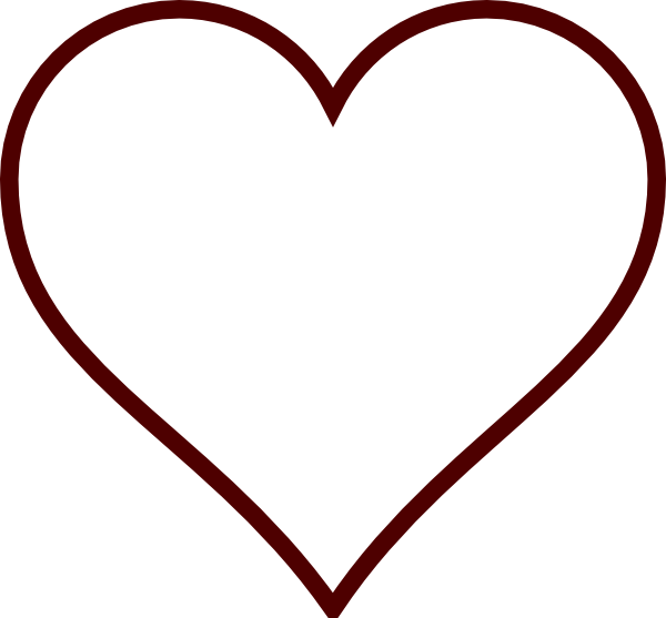 heart outline white and black png