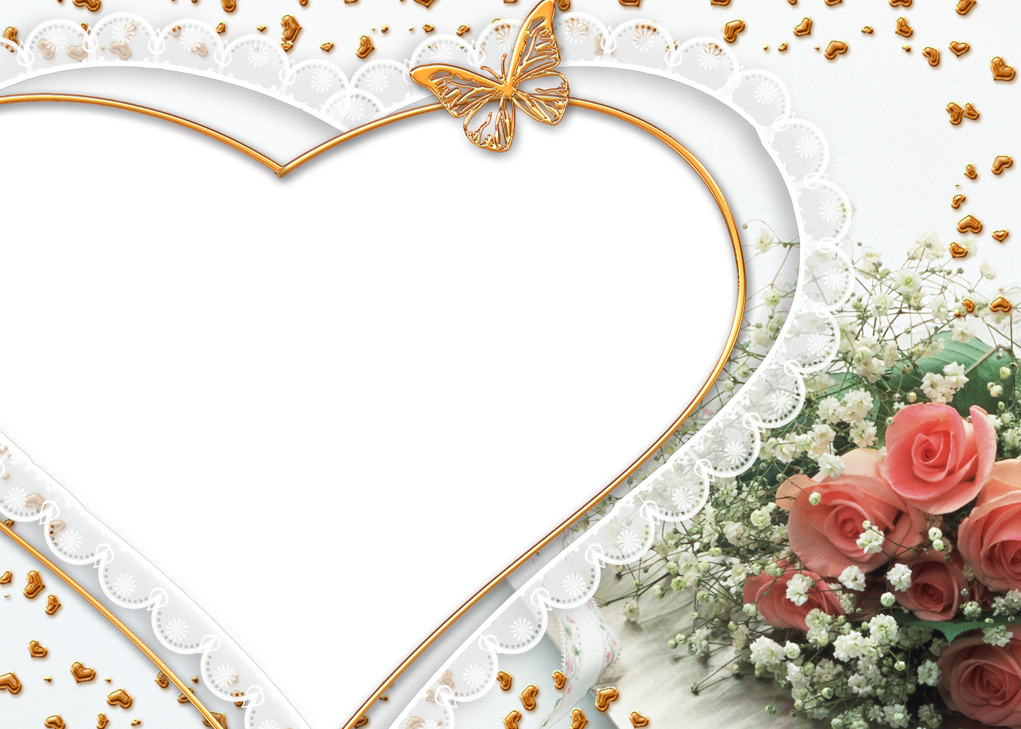 heart photo frame png image 24578