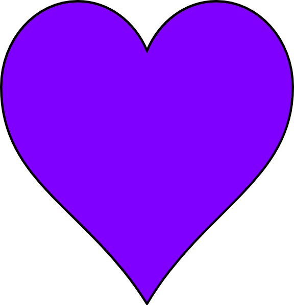 Image result for purple colored heart
