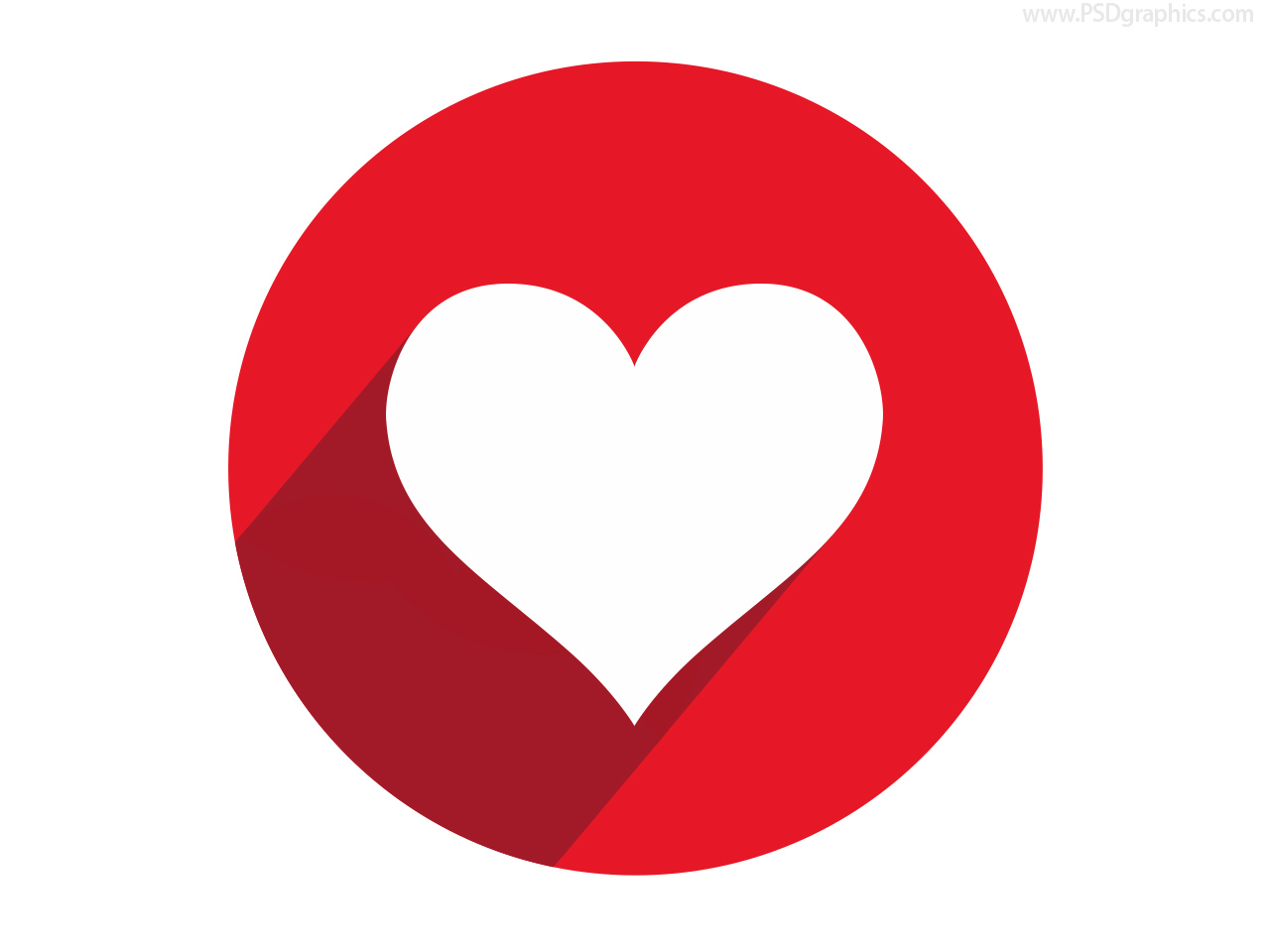 Heart Shape Button And Icon image #3348