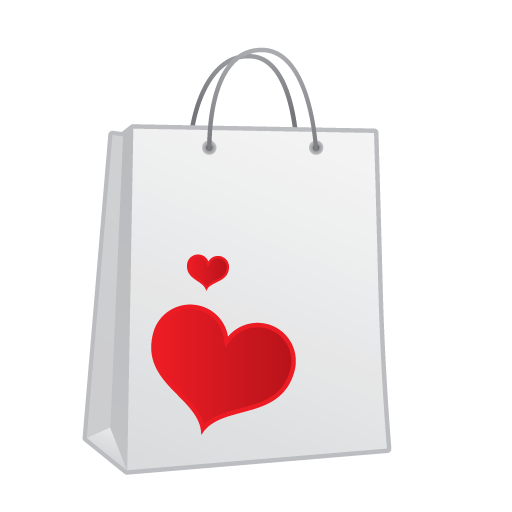 Heart Shopping Bag Icon image #10482