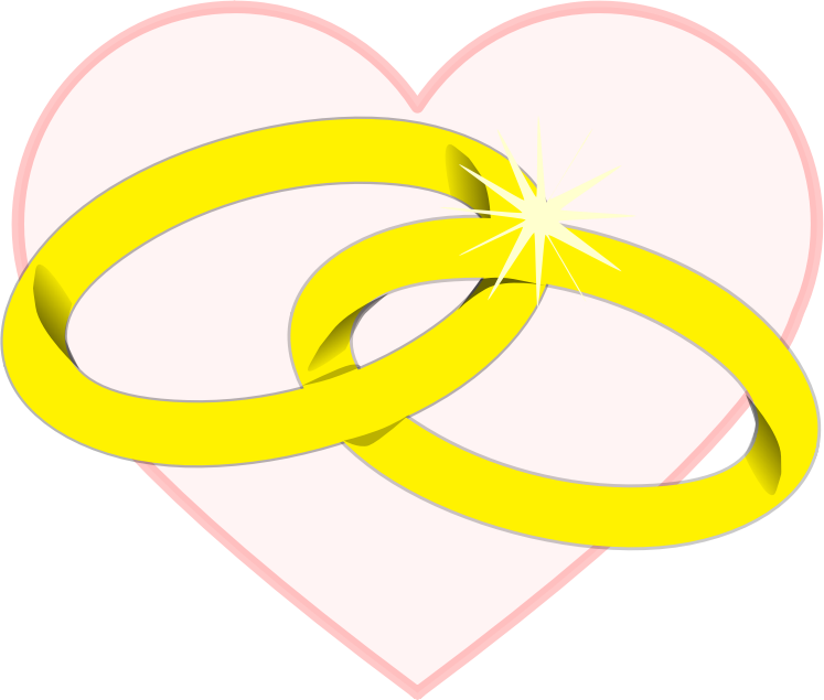 Heart with Wedding Ring Clipart Png