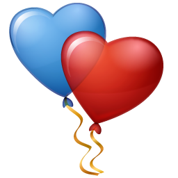 hearts balloons icon