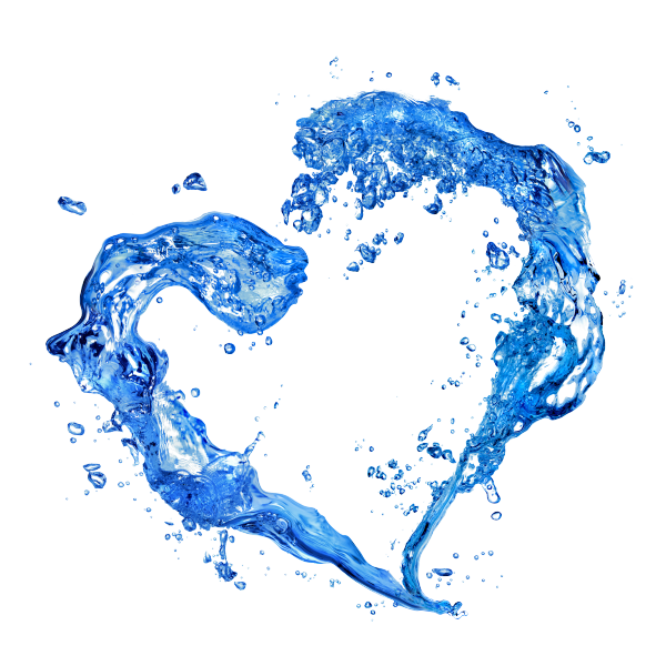 water heart png
