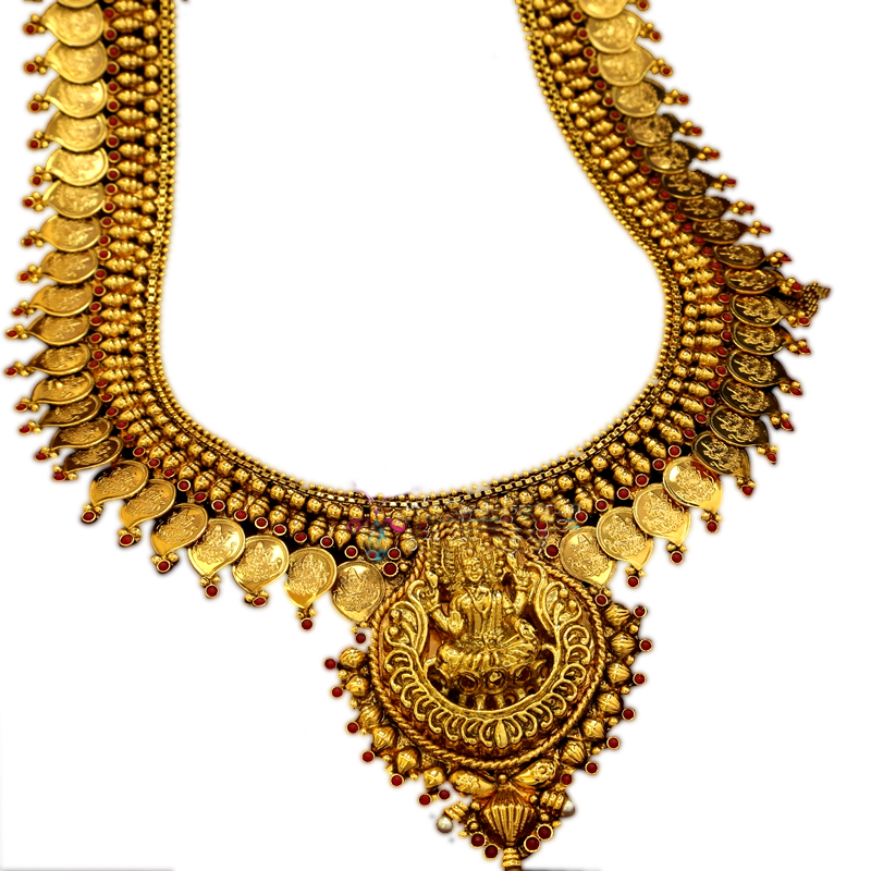 Heavy weight gold necklace jewellery transparent