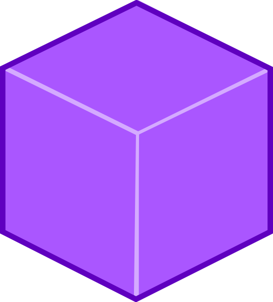 High Resolution Cube 3D Purple Box image #47047