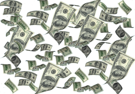 High Resolution Falling Money Png Clipart