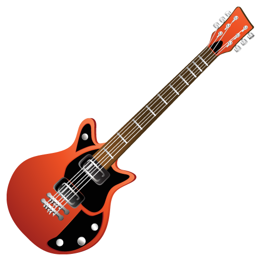 Electric, guitar, red