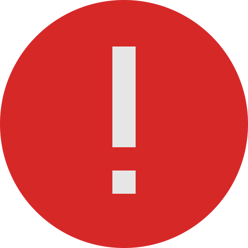 High Resolution Photo Of The Red Exclamation Point Error image #48265