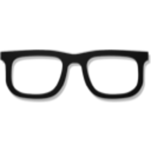 Hipster Glasses Optic Png image #47168
