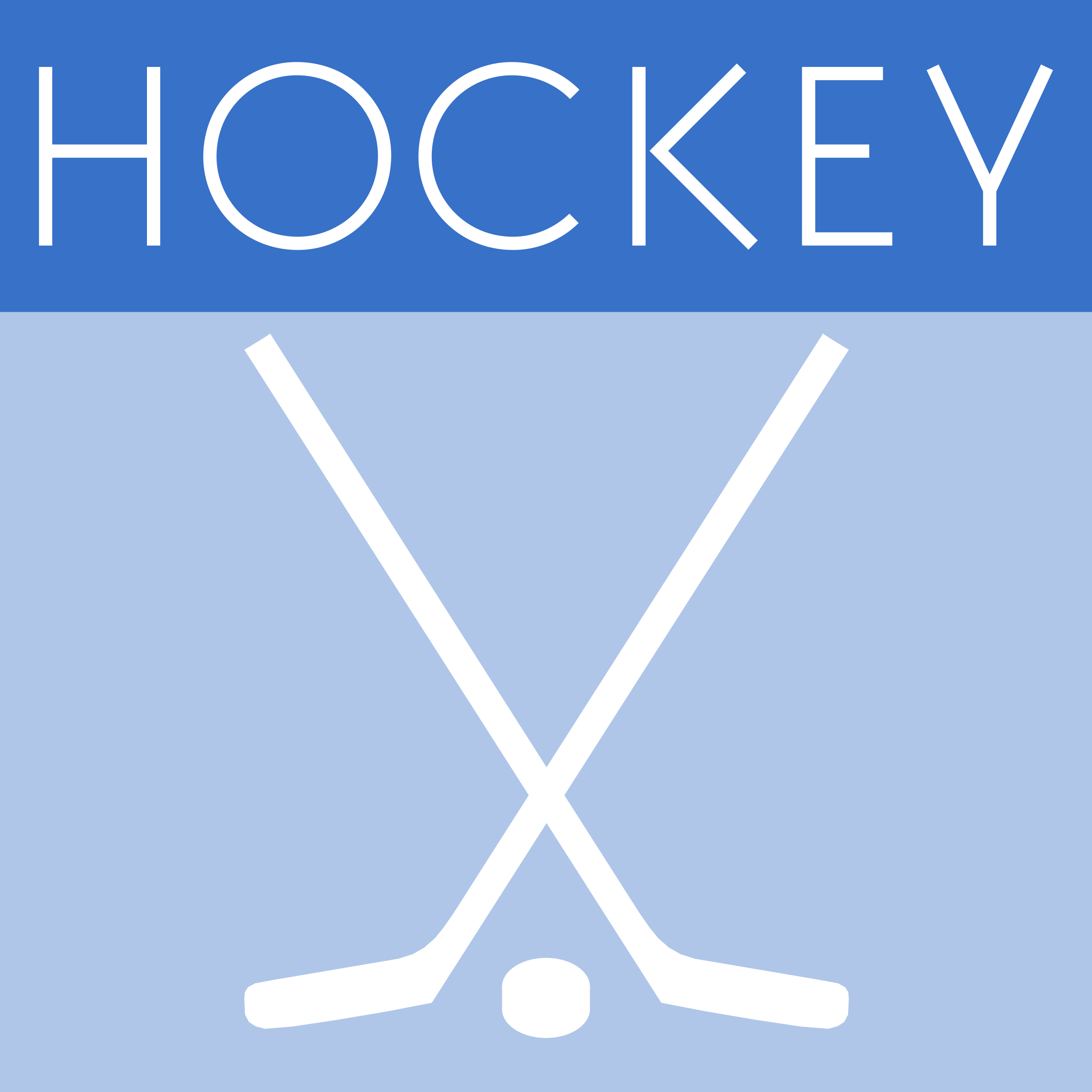 Icon Hockey Drawing