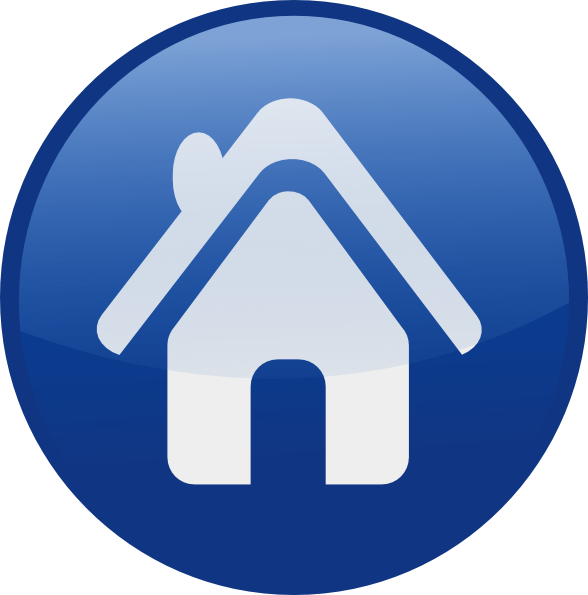 home, circle, button, free icon
