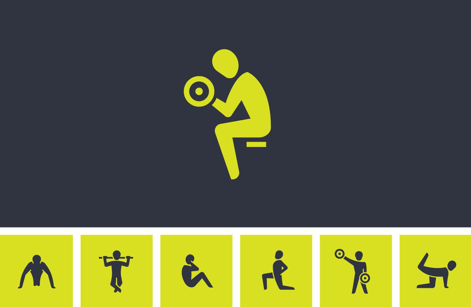 Home Icon Vector Png Fitness exercise icons
