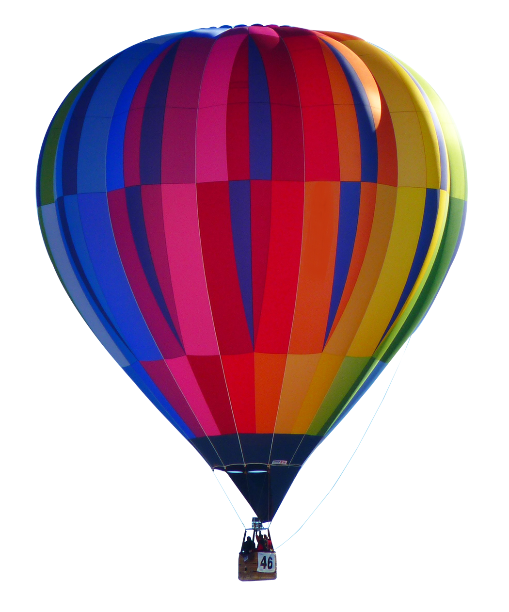 Hot Air Balloon Colorful PNG File image #46761