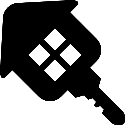 House key real state business symbol icon