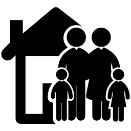 House With Family Icon Png Transparent Background Free Download 356 Freeiconspng