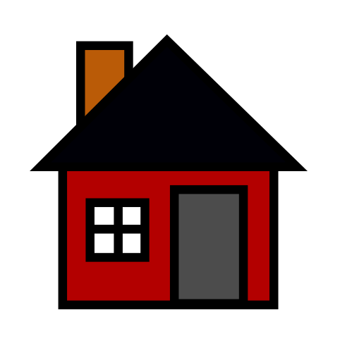 red black house clipart