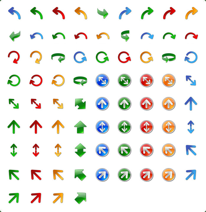 Icons preview of Arrow Icon Set