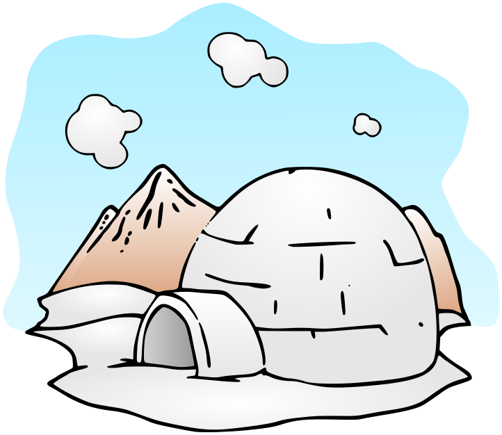 Clipart Igloo PNG image #33781