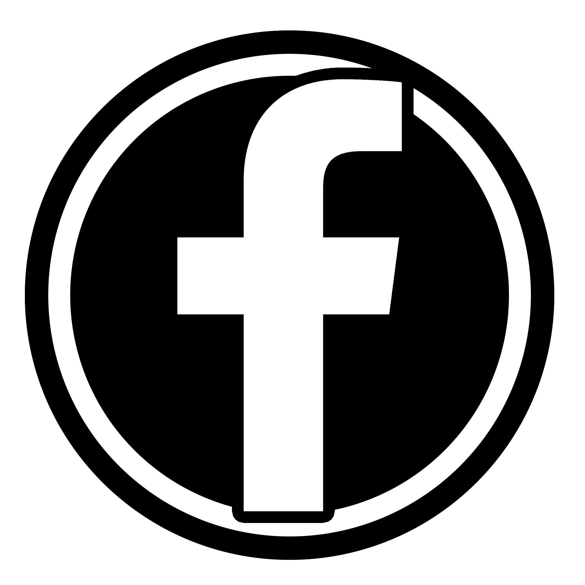 Black Icon Facebook for bookmarks
