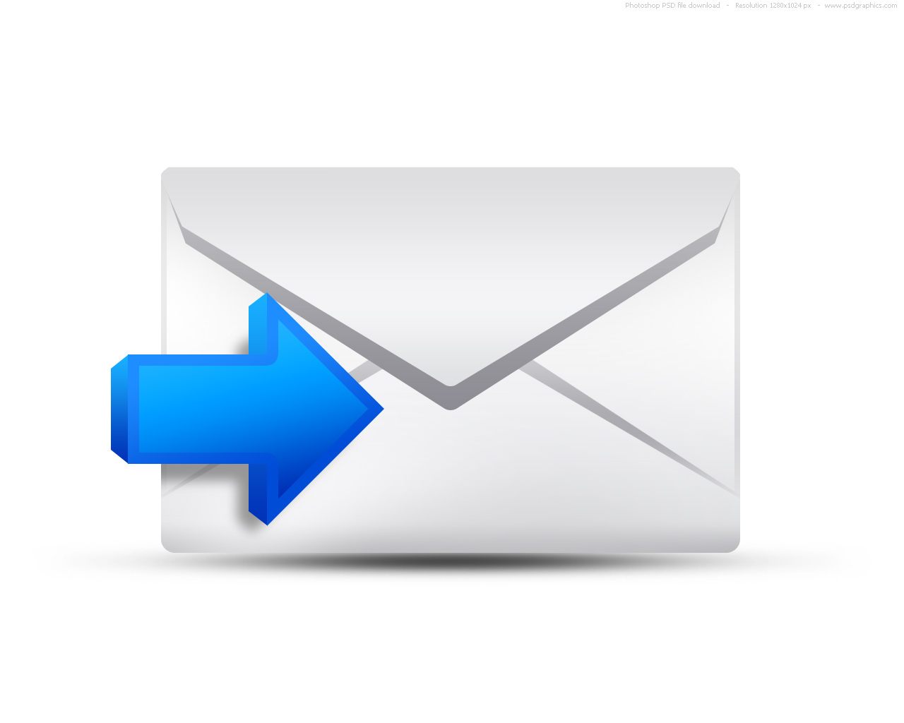 Incoming email icon