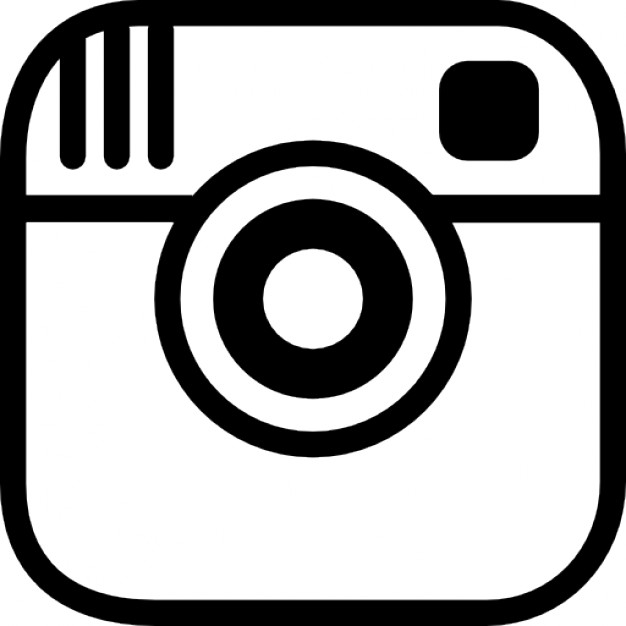 Instagram photo camera logo outline Icons | Free Download