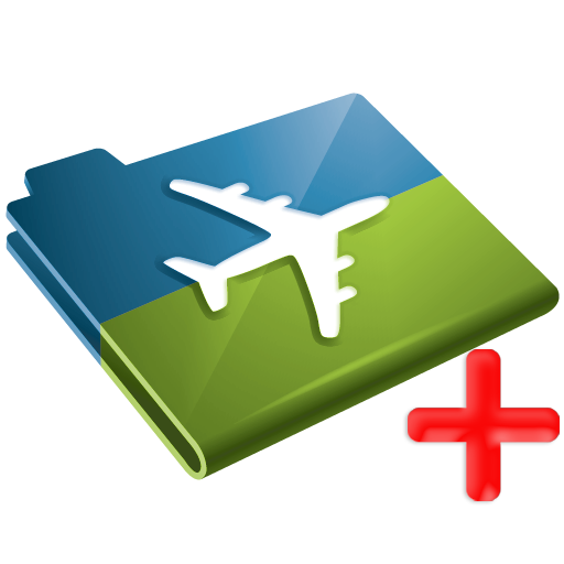 insurance, plus, airplane, travel icon