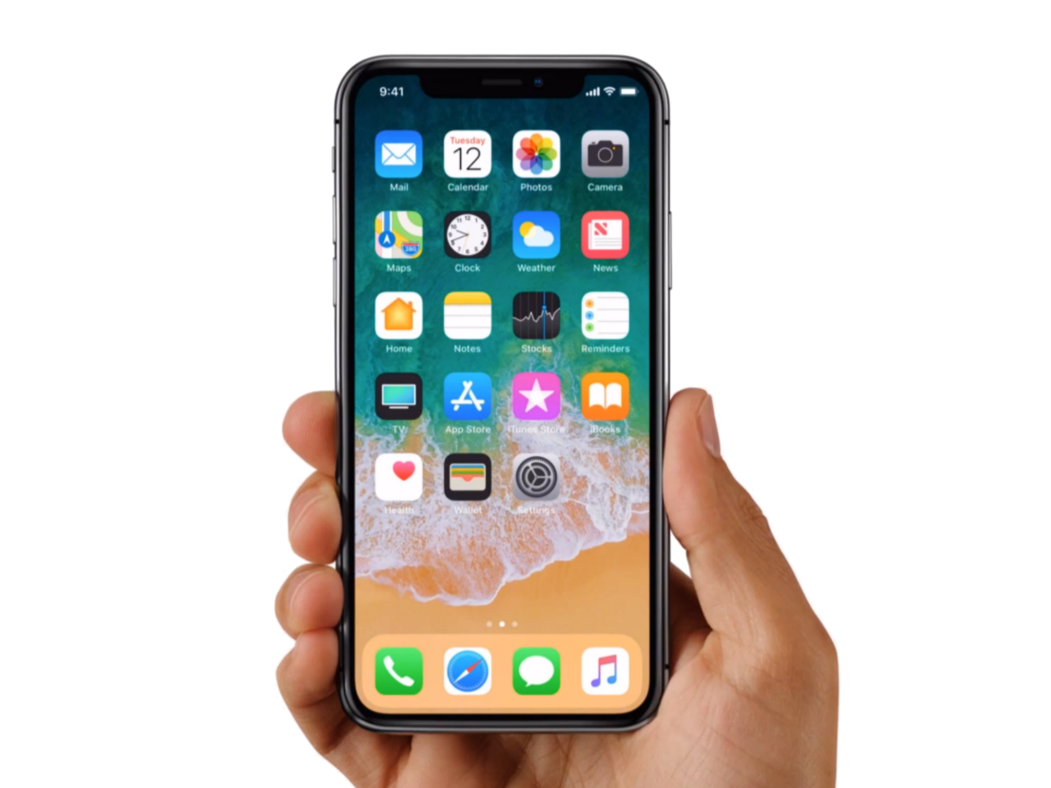 Iphone X 10 With Hand Png image #45212
