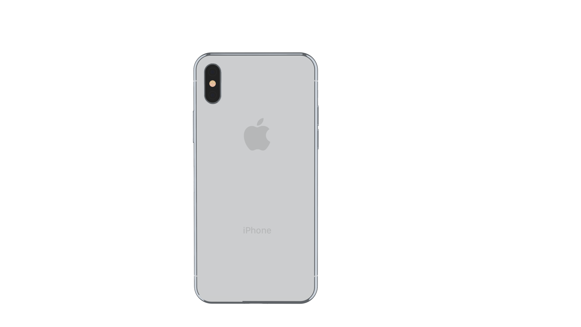 iPhone X back view