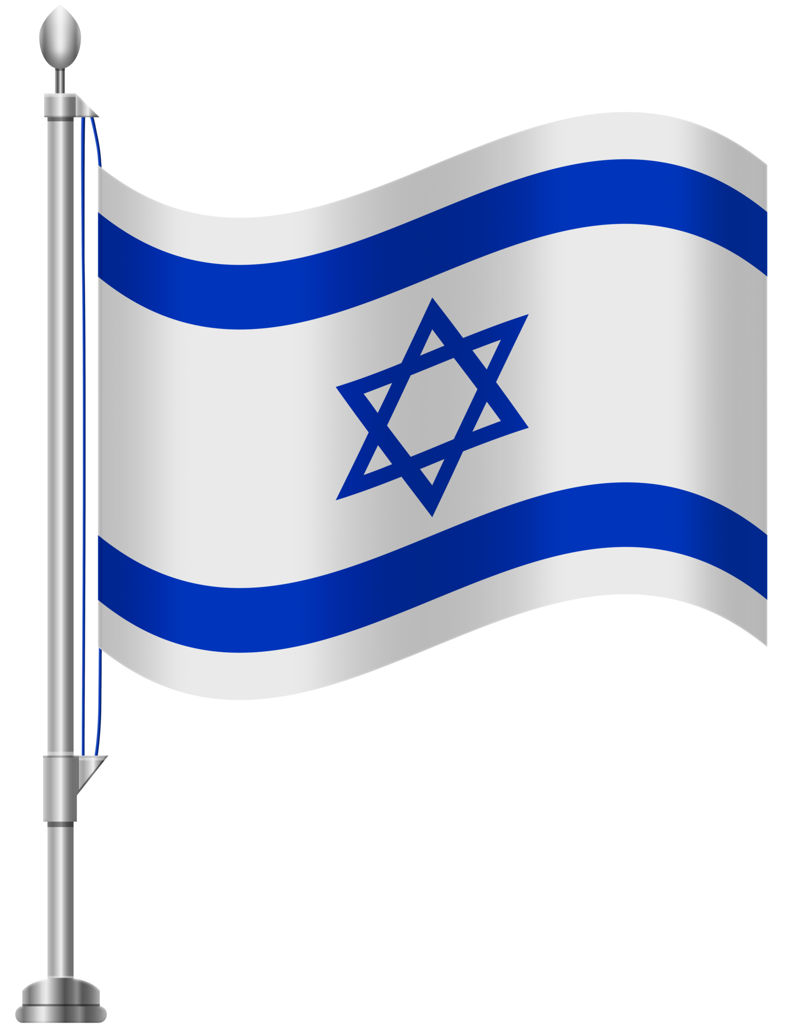 Israel Flag Transparent PNG Photo