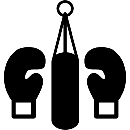 Kickboxing Gloves And Hanging Weight Sack image #14503