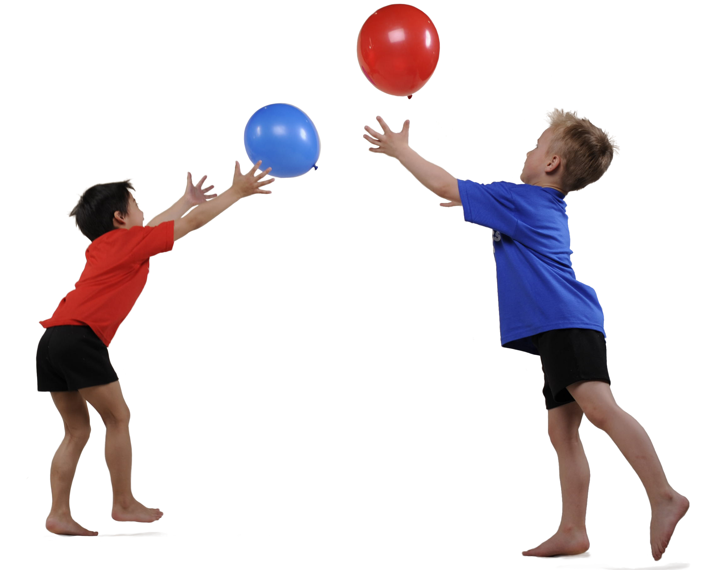 kids playing balloons png