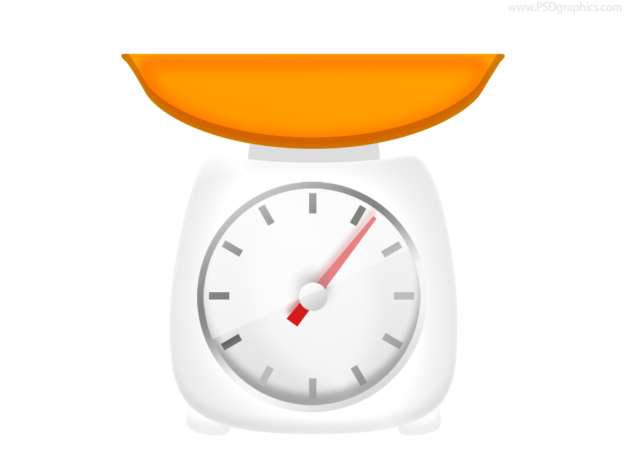 Kitchen Scale Icon (PSD) | PSDGraphics image #416