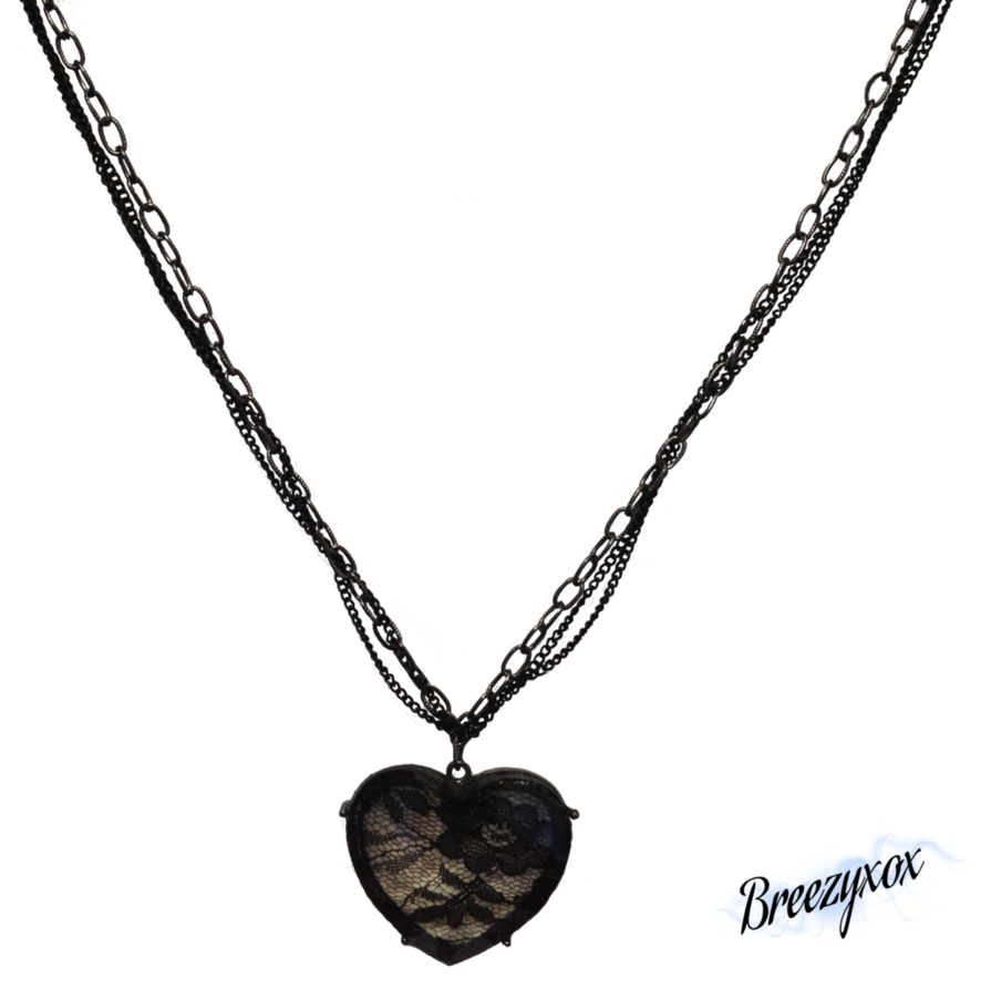 Lace Heart Necklace Stock Png image #45143