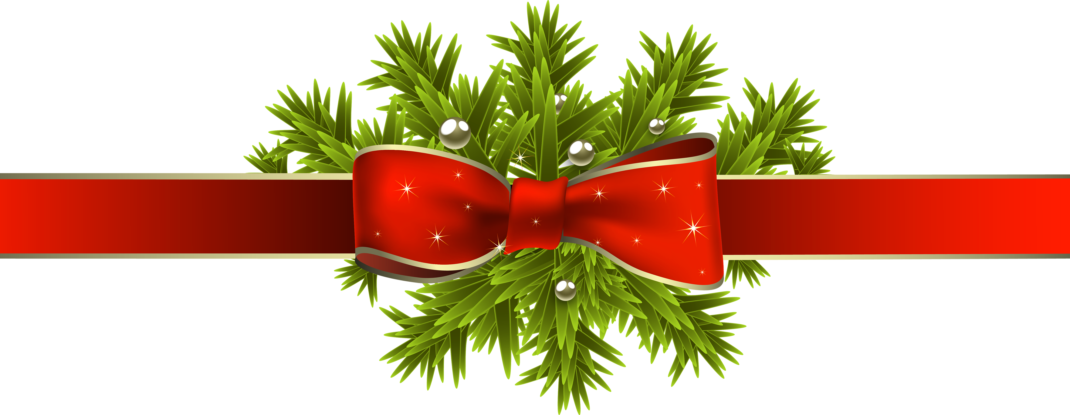 Leaf, Ribbon, Christmas, Red Png image #47079