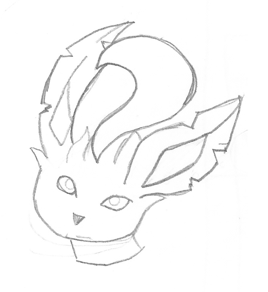 Leafeon Outline Png image #24047