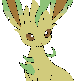 Leafeon Vector Png image #24036